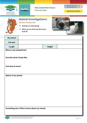 Click to view Resource 152013 Animal Mini-Project