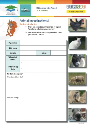Click to view Resource 152014 Animal Mini-Project
