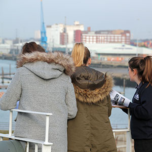 Education Destination students on Isle of Wight ferry