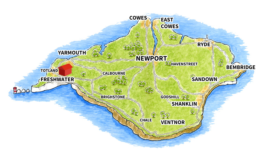 Map of YHA Totland