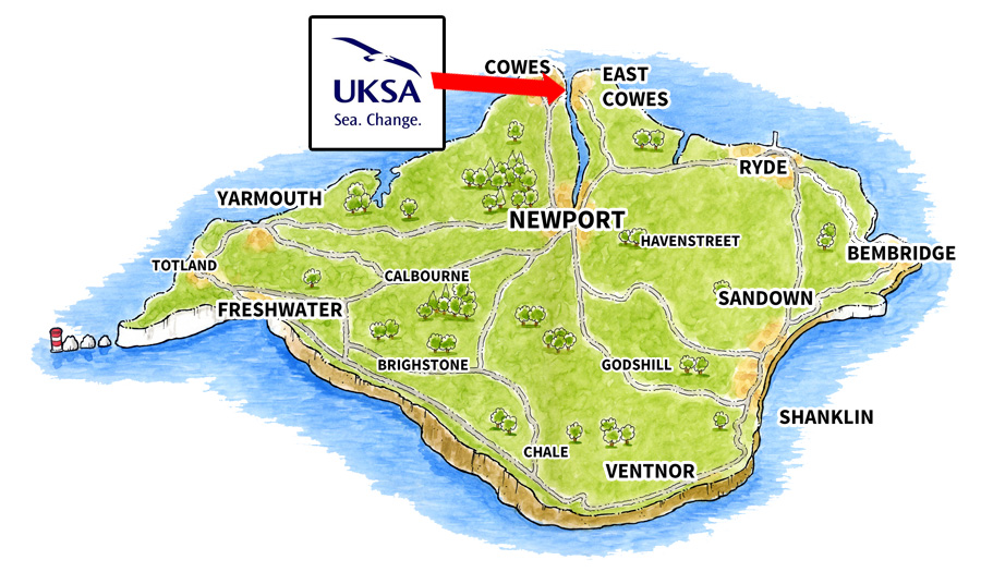 Location map for UKSA