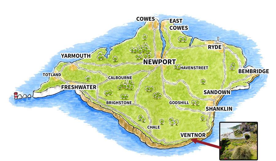 Location map for Ventnor (Town)