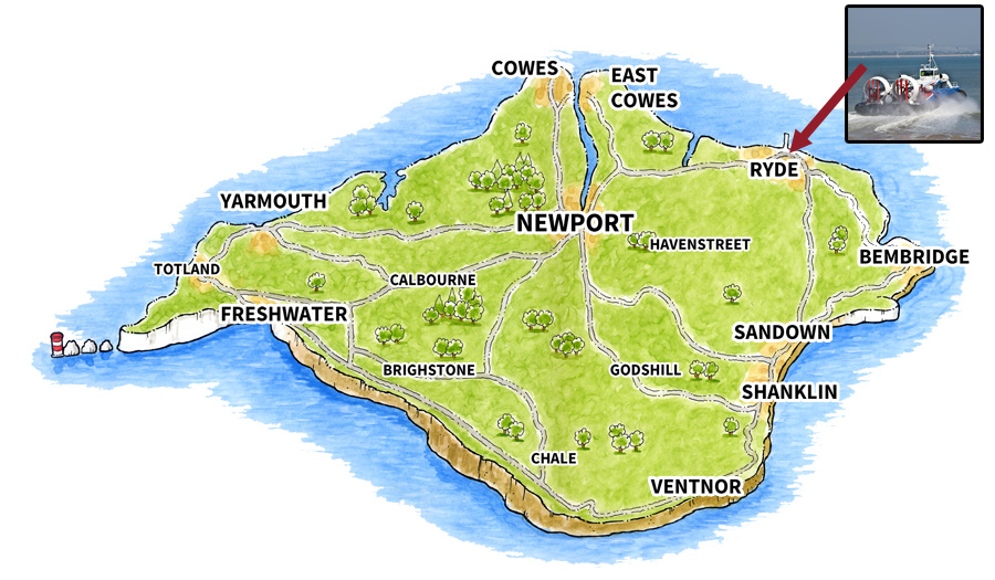Location map for Ryde (Town)