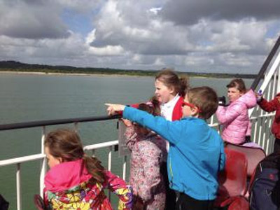 Education Destination teaching resource in use at Red Funnel Ferries