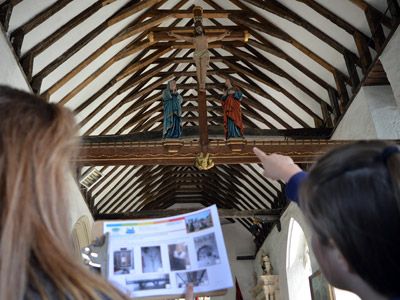Education Destination teaching resource in use at The Model Village, Godshill